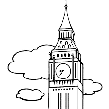 Big Ben The Clock Tower Colouring Page Coloring