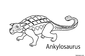 Free Printable Dinosaur Ankylosaurus Coloring Page