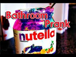 hilarious nutella bathroom prank youtube
