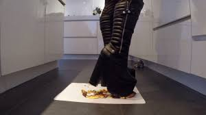 crushing pastry with big black demonia boots part 3 youtube
