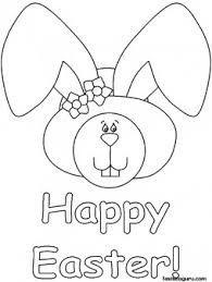 Printable Happy Easter Bunny Face Coloring Pages