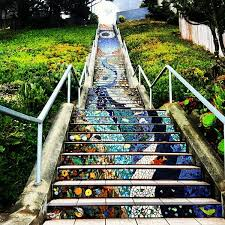 16th Avenue Tiled Steps Project by Golden Gate Heights Mosaic Stairway Scenic Lookout In San Francisco