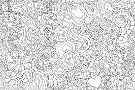 Abstract Coloring Pages For Teenagers Heart Difficult