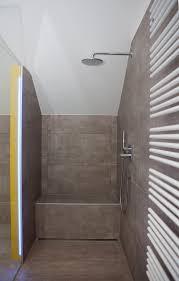 reduziertes design im bad walk in dusche toilette