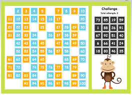 This Game Is 100 Number Chart Students Click And Drag To Place The Missing Numbers