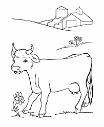 Free Coloring Pages For Kids Coloring Cow Animal Printable