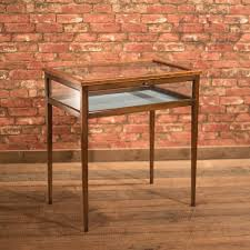 Coffee TableAmazing Japanese Table Glass Display Case Brass Round