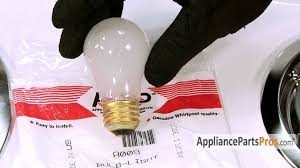 electric oven light bulb part 8009 how to replace