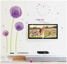 details zu wandtattoo löwenzahn lila verteilbar schlafzimmer tv deko wandaufkleber w160