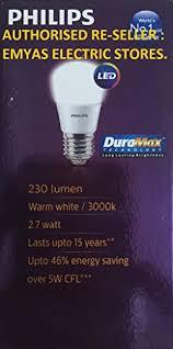 philips base e27 2 7 watt led bulb pack of 2 warm white