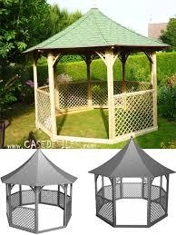 tonnelle parapluie pas cher de jardin bois octogonale pavillon kic35 pas cher