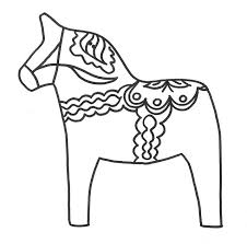 Swedish Dala Horse Embroidery Pattern By Cherryskin All Ages As Coloring Page