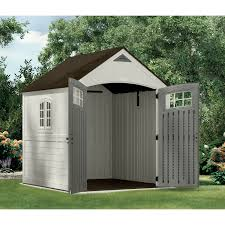 Suncast Horizontal Utility Shed by Furniture Chic Suncast Storage Shed In Espresso For Outdoor