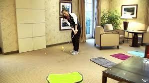 indoor für golfer chippen zuhause mit luftbällen