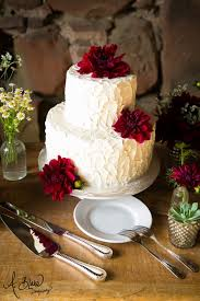Rustic Buttercream Frosted Wedding Cake