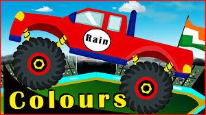 100 Kids Monster Trucks Learning Colours Videos For Kids Colours For
