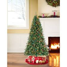 Fancy 45 Pre Lit Christmas Tree 4 5 Ft Trees Foot White Qvc With Pine Cones