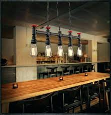 Fresh Industrial Style Dining Room Lighting And Light Fixtures