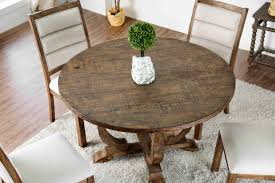 Awesome Weathered Round Dining Table Room Oak Furniture Gray ...