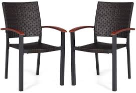 Details About Patio Dining Armchair Set Stackable Rattan Wicker Chairs  Aluminum Frame 2 Pieces 9363 China 2017 New Style Black Color Outdoor Rattan Ding Outdoor Ding Chair Wicked Hbsch Rattan Chair W Armrest Cushion With Cover For Bohobistro Ica White Huma Armchair Expormim White Open Weave Teak Suma With Arms Natural Hot Item Rio Modern Comfortable Patio Hand Woven Sidney Bistro Synthetic Fniture Set Of Eight Chairs By Brge Mogsen At 1stdibs Wicker Derektime Design Great Ideas Warm Rest Nature