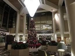 Hilton Los Angeles Universal City Beautiful Christmas Tree In The Lobby