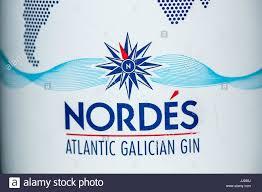 100 Nordes Bottle Of Nordes Atlantic Galician Gin Stock Photo