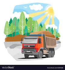 100 Red Dump Truck Drawing Red Dump Truck Sand Royalty Free Vector Image