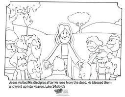 Full Image For Christian Easter Coloring Pages Jesus And His Disciples Free Page Great