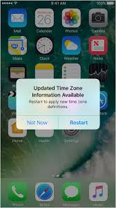 How to updated time zone information for your Apple device