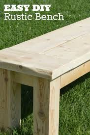 super easy rustic bench rustic bench board and gardens