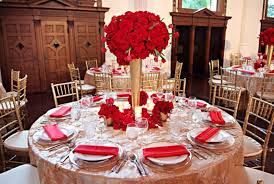 Picture Of Red And Gold Wedding Decor
