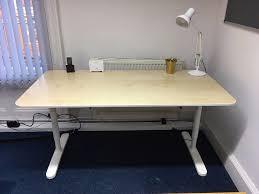 Ikea Bekant L Shaped Desk by Ikea Bekant Desk In Birch Veneer And White 160 X 80 Cm In York
