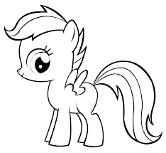 Marvelous My Little Pony Scootaloo Coloring Pages With Fluttershy And