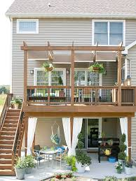 Patio And Deck Combo Ideas by Outdoor Room Decorating Ideas Decking Deck Makeover And Hammock