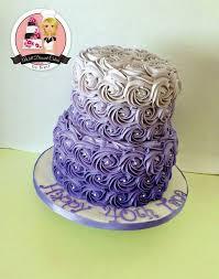 Adult Birthday Cakes Purple Rosette Purple Rosette