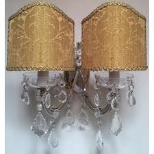 awesome clip on l shades for wall lights 46 in ghost l shade