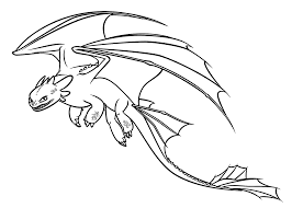 High Quality Free Printable How To Train Your Dragon Cartoon Coloring Pages For Kids