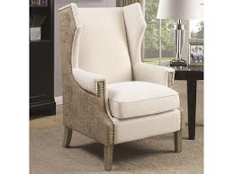 Coaster Accent Seating 902491 Accent Chair With Wing Back Design And ... Coaster Fine Fniture 902191 Accent Chair Lowes Canada Seating 902535 Contemporary In Linen Vinyl Black Austins Depot Dark Brown 900234 With Faux Sheepskin Living Room 300173 Aw Redwood Swivel Leopard Pattern Stargate Cinema W Nailhead Trimming 903384 Glam Scroll Armrests Highback Round Wood Feet Chairs 503253 Traditional Cottage Styled 9047 Factory Direct