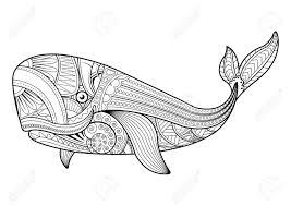 Tiré Par La Main Octopus Tribal Animal Totem Pour Adultes Coloriage