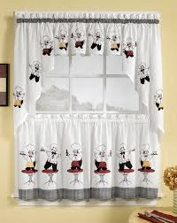 Black Kitchen Curtains Walmart by Cheers Curtains White Lorraine Home Fashions Cafe U0026 Tier