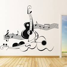Dandelion Of Music Notes Treble Decal Sticker Wall Home With Regard To Musical Art Decorating