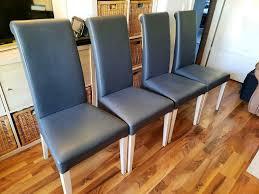 4 esszimmer stühle robustes material farbe grau weiß
