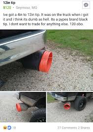 Saw Some People Posting Huge Exhaust Tips. : Trucks Flowmaster F150 4 In Angle Cut Round Exhaust Tip Black Ceramic Mbrp S5263304 Catback System Pro Series 3 Stainless 35 Or 40 Truck Exhaust Tips Kits Pipes Geddes Auto Truck Exhaust Repairs 636 7064 Auckland A Truck Tips For 5 Inch Page Dodge Ram Forum Dodge Forums Corsa Performance 14516 Chevygmc Trucks Ar15 Universal Fit To 6 Sinister Diesel Big Cummins Forum I See Your Oversized Shitty Tip And Raise You Shitty_car_mods Sema 2014 Tipoff