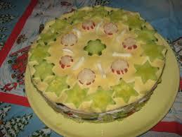 salat torte für weihnachten
