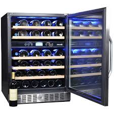 Builtin Dual Zone 46 Bottle Locking Wine Cooler By NewAir