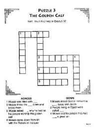 The Golden Calf Crossword Bible Coloring Pages More