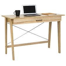 Merlot Single Drawer Desk Oak