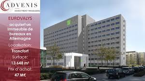 scpi de bureaux la scpi eurovalys acquiert un immeuble de bureaux à francfort