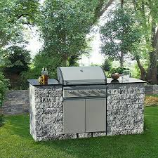 ehl outdoorkitchen set mini grau anthrazit 200 x 77 x 100