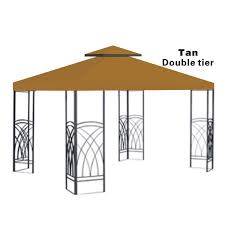 10x10 Replacement Canopy Top Patio Pavilion Gazebo Sunshade